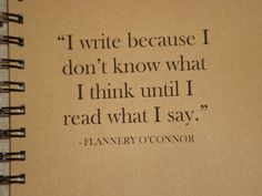 I Write Because ... Flannery O'Connor 2013 - 2014 Calendar / PLANNER /AGENDA /JOURNAL / Quote / Motivational / Notebook