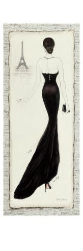I just bought this for my room and looks AMAZING! Check this artist out! Elegance Diva I Giclee Print by Emily Adams at AllPosters.com