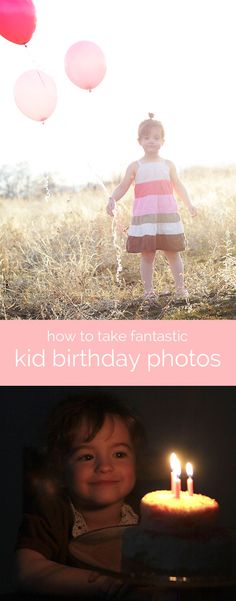 help kids remember the fun of their #birthday with one of these quick mini #photo shoot ideas - some perfect for older kids. I love the second one and the last one.