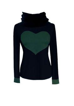 """Iza Fabian - SWEAT -  HOODY  """" GREEN HEART """" von Iza Fabian Design  auf DaWanda.com"""