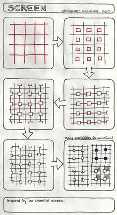 Enthusiastic Artist: SCREEN tangle instructions