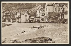 LYNMOUTH. Floods. The Main Street. 1952. - Click Image to Close