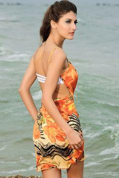8c1c9890ba1e4 Swimwear Women Print Beach Chiffon Dress Sarong Cover Up Bikini Wrap  Beachwear Pareo Swimsuit Ups Saida De Praia Swimwear Women Print Beach  Chiffon Dress ...