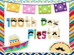 Fiesta 100! A 100th Day Event! A Common Core Aligned Pack! from Kindergarten Smorgasboard on TeachersNotebook.com - (122 pages) - A 100th day event! Activities, decorations, stickers and certificates for your 100th day fiesta! Writing, numbers, counting, a book and a hat to make your 100th day complete!