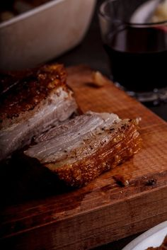 Unctuous, succulent pork belly simply roasted with salt and pepper with the crispest crackling.