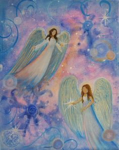 Original Acrylic Painting Healing Energy Angel x by BrydenArt Angel Clouds, Angel Drawing, Angels Among Us, Zen Art, Angel Art, Acrylic Paintings, Rock Art, Impressionism, Art Drawings