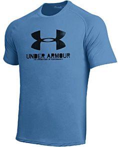 Under Armour Mens Carolina Blue Poly Dry HeatGear NuTech Performance Shirt $31.95
