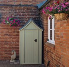 Regency Tool Store with scalopped lead roof from The Handmade Garden Shed Company, Devon.