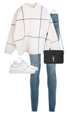 """Untitled #11148"" by alexsrogers ❤ liked on Polyvore featuring Yves Saint Laurent, women's clothing, women, female, woman, misses and juniors"