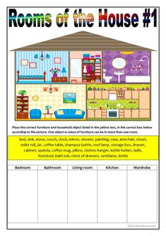 Rooms of the House 1 worksheet - Free ESL printable worksheets made by teachers 473018767111989934 Learning English For Kids, Kids English, English House, English Lessons, Teaching English, Learn English, English Class, English English, Teaching Spanish
