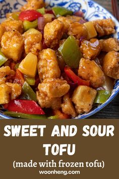 Asian Tofu Recipes, Vegetarian Recipes, Healthy Recipes, Ethnic Recipes, Pork And Tofu Recipe, Sweet And Sour Recipes, Healthy Food, Healthy Eating, Tofu Dishes