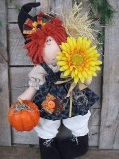 Fall Witch cloth doll pattern