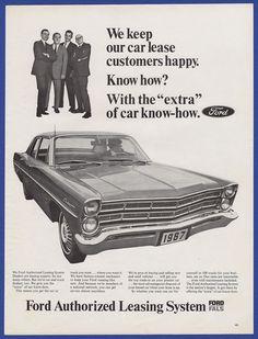Vintage 1967 FORD Leasing System Custom 500 Car Automobile RARE Print Ad 60's | eBay