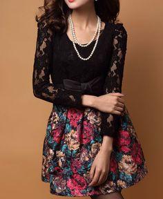 Woolen Lace Dress Fight A