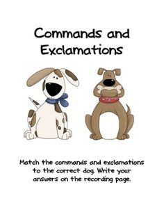 Commands and Exclamations Games 2nd Grade Ela, First Grade Writing, Second Grade, Teaching Posters, Sorting Games, Types Of Sentences, Sentence Writing, Story Elements, Special Education Teacher