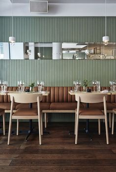 I am loving this color palette and the us of natural wood , Michel restaurant, Helsinki by talented Joaana Laajisto