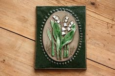 Nice floral Jie wall plaque in ceramic from Sweden by Ingsvintage