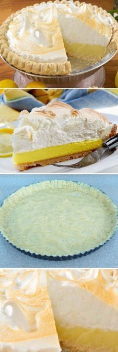 Pay de limon Pie Recipes, Sweet Recipes, Snack Recipes, Cooking Recipes, Mini Cakes, Cupcake Cakes, Bien Tasty, Sweet Pie, Mini Cheesecakes
