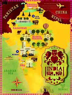 India map by cartographik.com