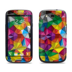 Samsung Galaxy S3 Phone Case Cover Decal  Colorful by skunkwraps, $9.95