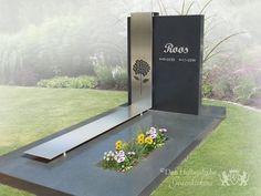 Graf RVS foto 1 Cemetery Headstones, Cemetery Art, Tombstone Designs, Funeral, Flower Arrangements, Architecture Design, Diy And Crafts, Modern Design, Inspiration