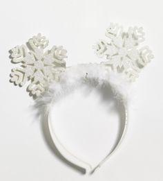 Sparkle Snow Flake Christmas Headband - Let it snow! This cute snow flake…