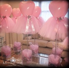 ideas baby shower girl decorations diy tulle balloons for 2019 Ballerina Baby Showers, Baby Girl Shower Themes, Girl Baby Shower Decorations, Baby Shower Princess, Ballerina Birthday Parties, Ballerina Party, Balloon Centerpieces, Baby Shower Centerpieces, Shower Party