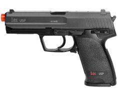 Pistola Airsoft HK USP Tactical - Elética Modo de disparo: Automático e Semi-Automático e Monotiro Acompanha: 1 magazine (capac. 25 BBS) 1 bateria recarregável 1 carregador de bateria   Características Velocidade: 240 fps / 50 m/s (BBS 0,12gr)  Energia: 0,5 Joule Distância máxima: 20 m Peso: 700 g Comprimento: 20 cm  Capacidade magazine: 25 BBS  Calibre: 6 mm Tipo de ação - Elétrica (AEG) e Spring (Mola)