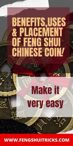 #fengshui #fengshuicoins #luckycoins #fengshuitips #chinesecoins #coins #oldchinesecoins Feng Shui Lucky Bamboo, Feng Shui Basics, Chinese Culture, Lucky Charm, Coins, Charms, Jewellery, Jewels, Rooms