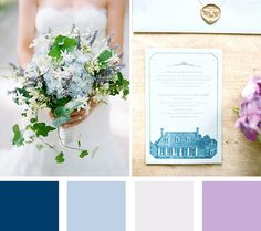 romantic wedding color palette from the summer #myweddingmag - click to see more inspirational summer wedding themes!