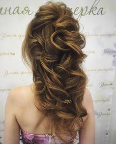 Tonya Pushkareva Long Wedding Hairstyle for Bridal via tonyastylist / http://www.himisspuff.com/long-wedding-hairstyle-ideas-from-tonya-pushkareva/20/