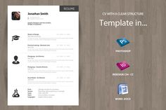 Minimal Curriculum Vitae CV - Resume by OFFI on @creativemarket