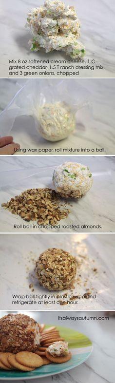 easy ranch cheeseball recipe - It's Always Autumn