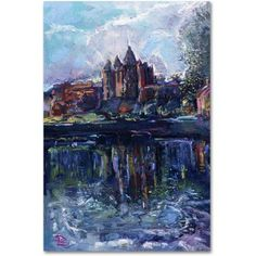 Trademark Fine Art Grail Castle Canvas Art by Lowell S.V. Devin, Size: 22 x 32, Multicolor