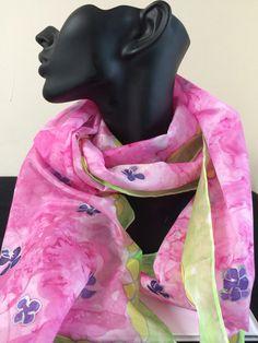 Summer scarves 100% silk hand painted silk scarves www.carolina-k.co.uk