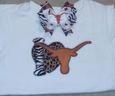I <3 Longhorns!! Get one for your little fan. Order at camboscloset@gmail or find us on FB http://www.facebook.com/pages/Cambos-Closet/326981894031233