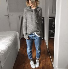 Pair your Stan Smith sneakers with boyfriend jeans. #GoodLooks