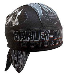 5fcbb4de01eda nice Harley-Davidson Men s Engulfed Flaming Skull Head Wrap