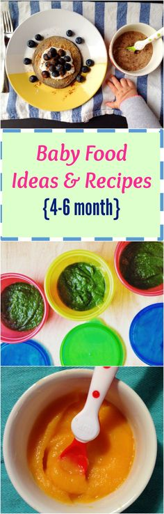 What to feed your little when when they first start on solid foods. Recipe and ideas