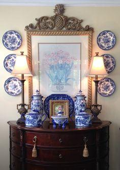 New Kitchen White Blue Pottery 67 Ideas Rustic Nursery Decor, Wall Decor, Bedroom Decor, Kitchen Wood Design, English Cottage Interiors, Kitchen White, 50s Kitchen, Kitchen Tips, Kitchen Decor