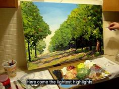 ▶ contemporary canadian painter Maxim Grunin painting a landscape start to finish - YouTube