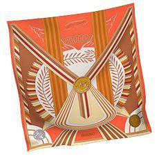 #hermes Hermes Women's Medium Silk Twill Scarves in Orange | Hermes.com
