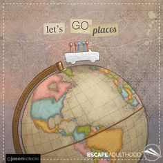 Let's Go Places by Jason Kotecki #travel #familytravel #worldtravel #art