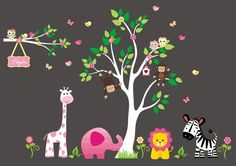 "Nursery Stickers - Baby Room Decor - Nursery Decoration - Nursery Inspiration - Nursery Wall Decor - Nursery Print - Baby Cute - 88"" x 110"""