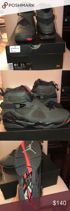 Olive Jordan 8s Never worn, just tried on Shoes Sneakers