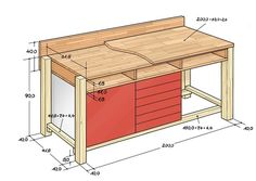 Werkbank Selber Bauen Avec Werkbank Selber Bauen Et Werkbank Skizze Gro 1 . DIY workbench Avec DIY workbench Et workbench sketch Gro 1 DIY workbench Sur La Cat Gorie Home decoration idea Workbench Plans Diy, Workbench Designs, Folding Workbench, Woodworking Workbench, Woodworking Crafts, Garage Workbench, Industrial Workbench, Diy Garage, Dimensions