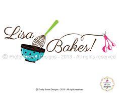 FUN bakery logo - By MyPrettySweetDesigns Cake Logo Design, Food Logo Design, Bakery Design, Blog Logo, Baking Logo, Cupcake Logo, Make Your Logo, Bussiness Card, Initials Logo