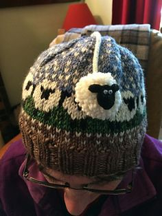 Baa-ble hat pattern by Donna Smith - Knitting and Crochet Bonnet Crochet, Knit Or Crochet, Crochet Hats, Fair Isle Knitting, Loom Knitting, Free Knitting, Shetland Wool Week, Motif Fair Isle, Baby Knitting Patterns