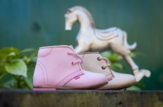 Emel First Shoes. Italian leather. Stylish pink kids shoes