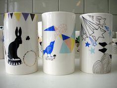 -: Porcelain vases by Meyer-Lavigne